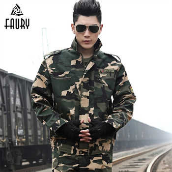 Men's Military Uniform Army Tactical Camouflage Set Male Special Forces Combat Uniforms Jacket + Pants Suit Hunting Clothing