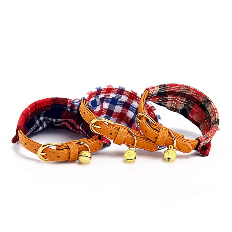 Cat Collar With Bell Dog Collar For Cats Solid Braid Kittens Pet Cat Collars Shiny Adjustable Collars For Cats Pet Lead Supplies (18)