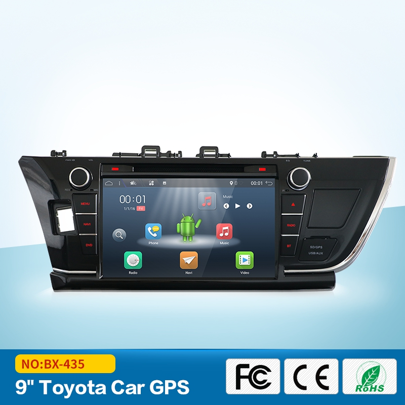 Android 7.1 Car dvd player for Toyota corolla 2013 2014 2015 gps navigation 2 din radio multimedia player