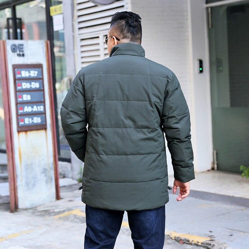 Nueva llegada de alta calidad chaqueta de invierno gruesa con cuello alto obese casual abrigo talla grande XL 7XL8XL9XL10XL11XL 12XL 13XL-in Plumíferos from Ropa de hombre    3
