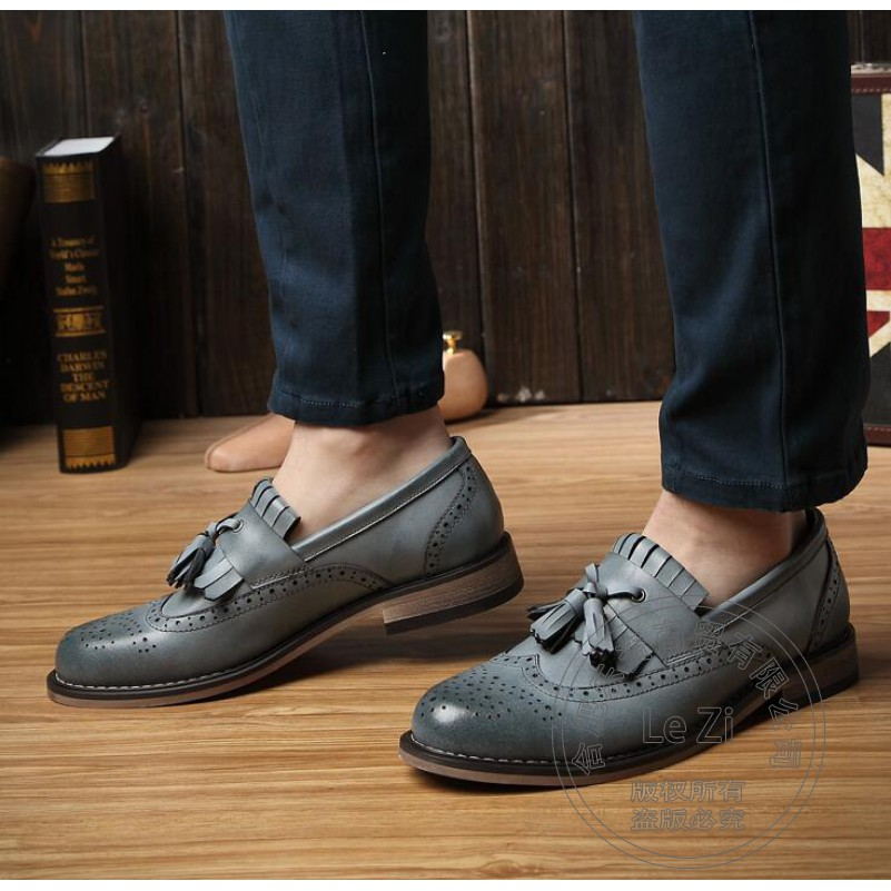ФОТО Solid Color Soft Leather Colorful Cowhide 41 Size Dazzling Plain Italian Mens Shoes Brands Men Shoes Luxury Brand Brogue Vintage
