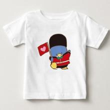 Cartoon Penguin childrens T-shirt latest digital printing cute penguin boy girl summer short sleeved MJ