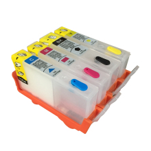4 Colors For HP 670 HP670 Empty Refillable Ink Cartridge With Resettable Chip For HP Deskjet 3525 4615 4625 5525 6525 Printer