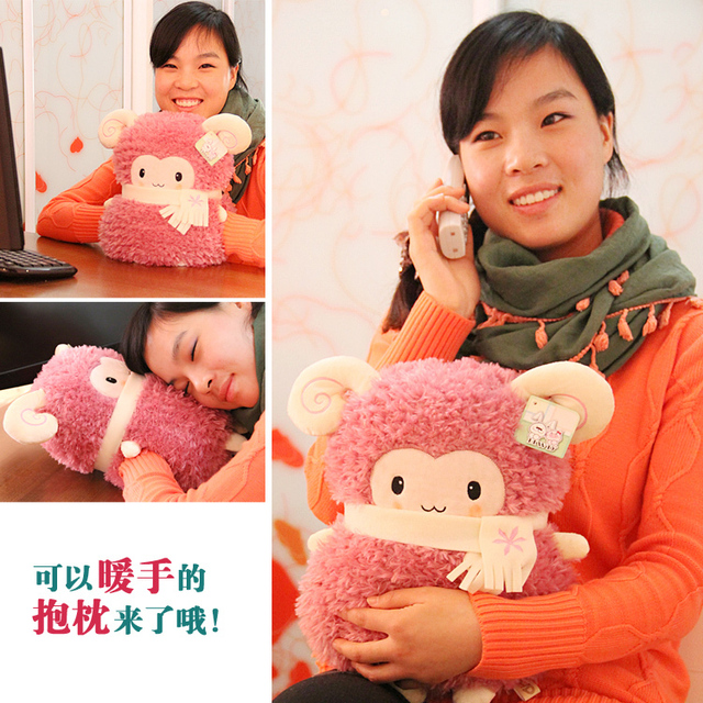 Sheep hands warm hand pillow weida plush toy hand po doll
