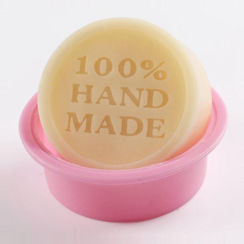 Alta Qualidade 100% Hand Made Forma Redonda DIY Silicone Mold Soap Mold Mould Fondant Bolo decoração Ferramentas material de Cozinha Em Casa