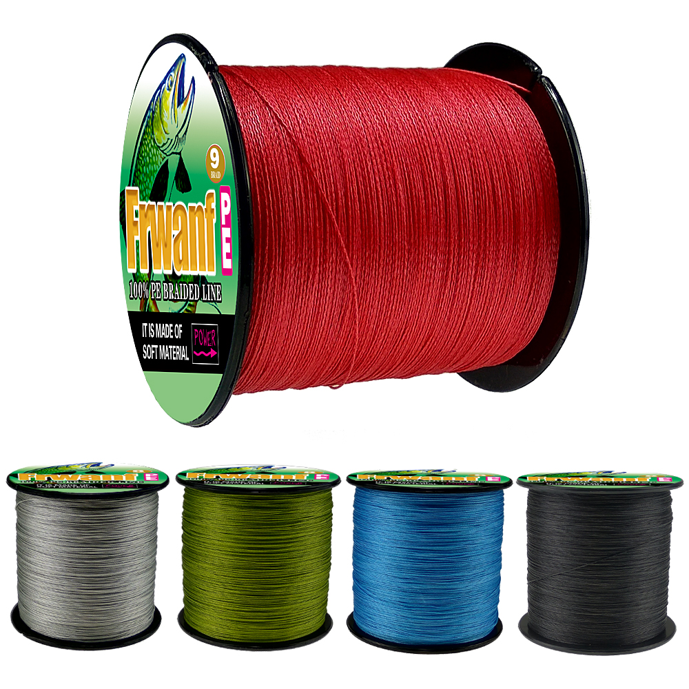 Frwanf Japan Braided Fishing Line 9 Strands  Multifilament 500M 547Yds Cord for Equipment 15-300LB wires