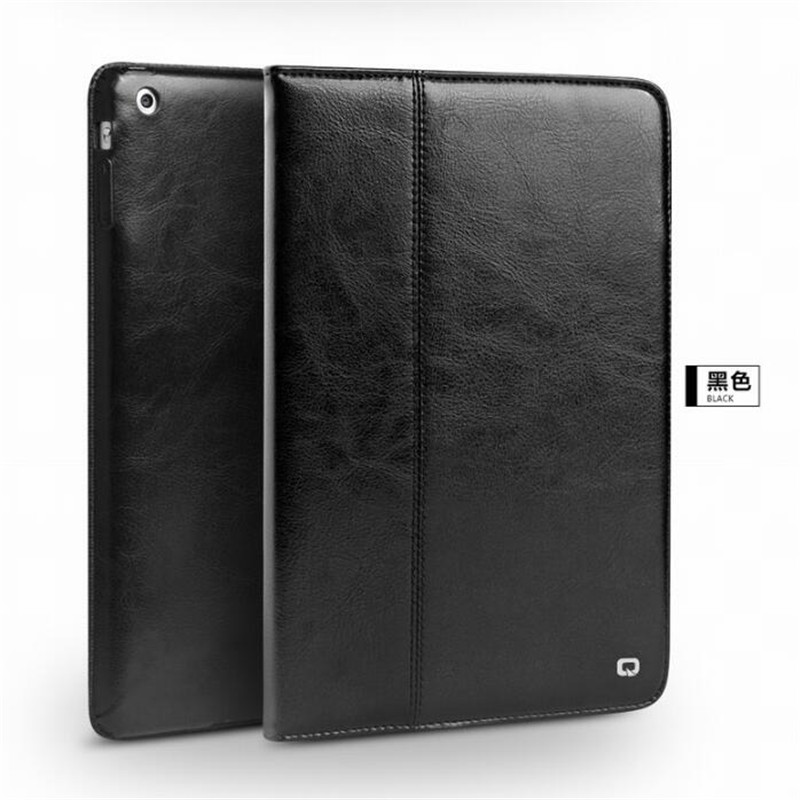 Qialino For iPad air Tablet Wallet Case Genuine Leather Flip Stents Dormancy Stand Cover for Funda 9.7 air Case Skin flip left and right stand pu leather case cover for blu vivo air