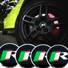 CDIY 4 unids/set 56,5mm R carreras logotipo pegatinas Auto tapas de cubo de rueda pegatina para JAGUAR XF XJ XJS XK S-TYPE X-TYPE