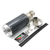 ZS MOTOS 51mm universal Motorcycle Modified Scooter Akrapovic Exhaust Muffle pipe