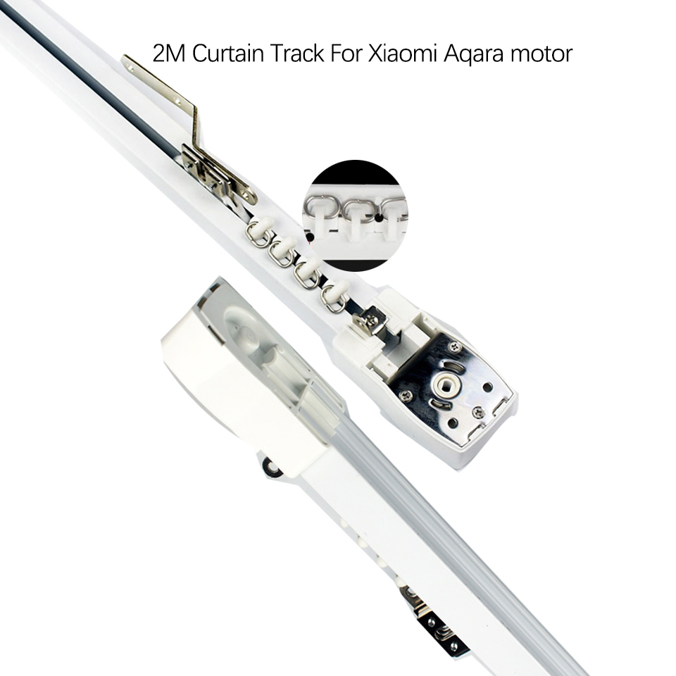 2M Super Silent Electric Curtain Track For Xiaavaimi Mijia Motor/DOOYA DT82/KT82 Motor Automatic Curtain Rail/Track System