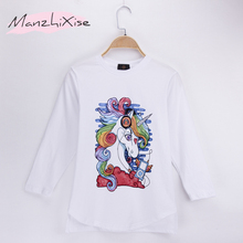 2019 Children Long T-shirts Unicorn Funny Printed 100% Cotton Full Toddler Child Shirts Kids Boy T Shirt Baby Girl Tops Teen Tee