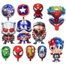 1pc spiderman hulk Captain America iron man balloons big inflatable toys birthday party decoration Baby Shower Boys Gift toy(China)