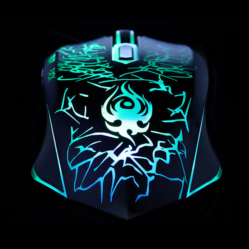 Wired Gaming Mouse Professional USB Mouse Mice Changeable LED Light Computer Optical Mouse For Gamer