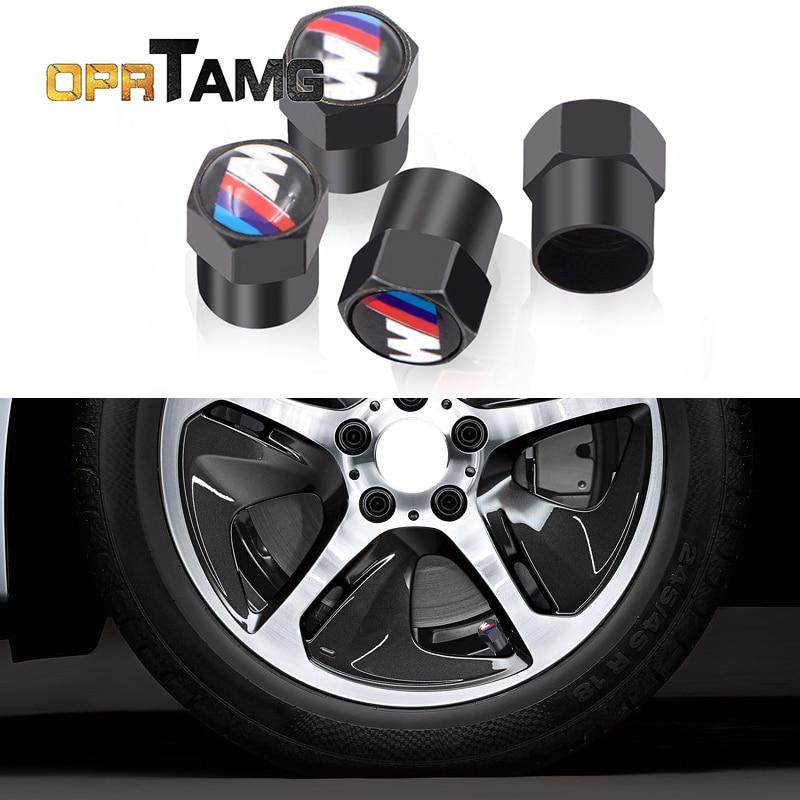 4pcs 2018 car-styling Car Tires Valve case for BMW F15 F13 M3 M5 M6 X1 X3 X5 X6 senies 320I 116I 118I 328I 530I car accessories 1pc car sticker for bmw motorcycle car styling stall paste m logo interior gear head stickers fit for bmw m3 m5 m6 x1 x3 x5 x6