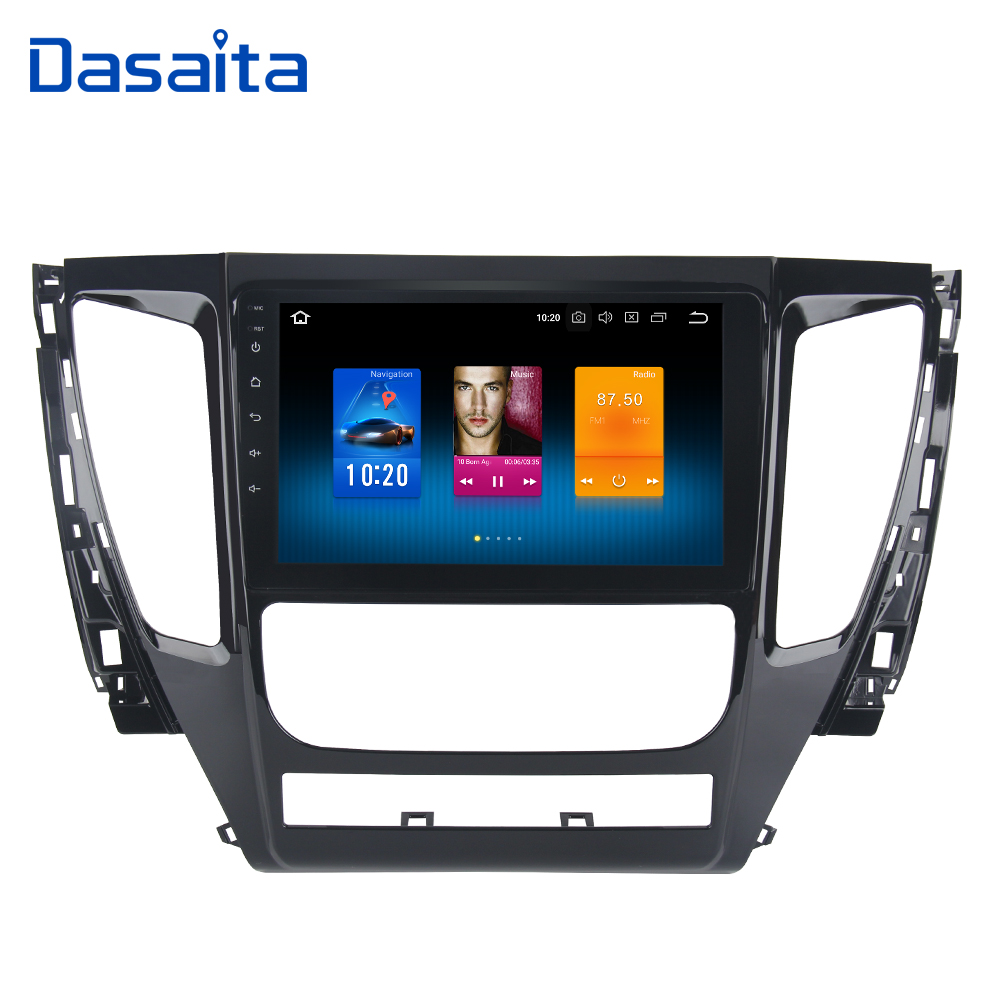 Dasaita 9 Android 8.0 Car GPS Radio Player for Mitsubishi Pajero Sport 2017 with Octa Core 4GB+32GB Auto Stereo Multimedia