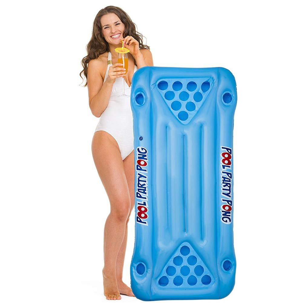 None PVC Inflatable Floating Row Aquatic Board Water Lounger Game Table
