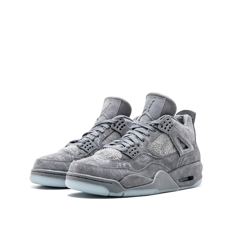 Original New Arrival Official Nike KAWS x Air Jordan 4 Cool Grey Breathable Men's Basketball Shoes Sports Sneakers Outdoor 1