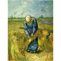 Peasant Woman Binding Sheaves after Millet by Vincent Van Gogh Oil paintings reproduction Landscapes art hand painted home decor
