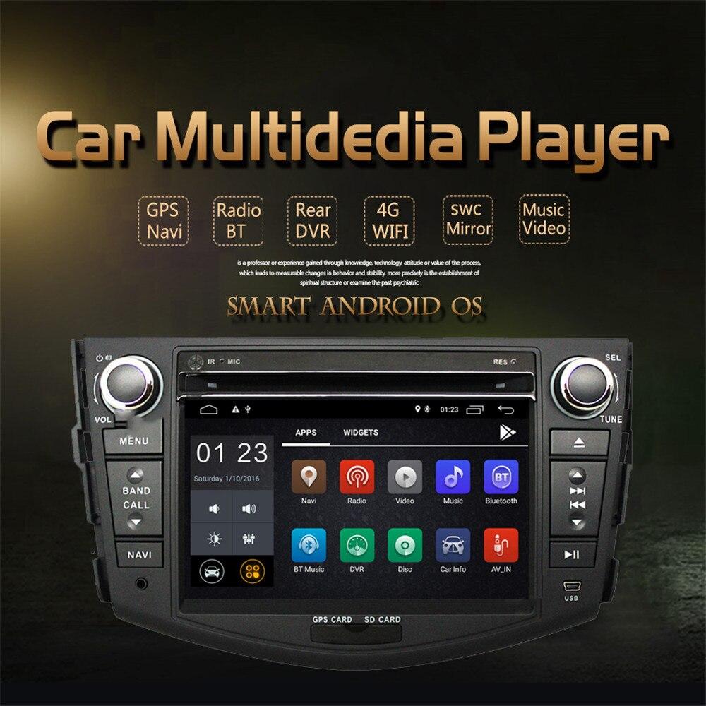 7'' Android 8.1 Car DVD Player GPS Navi Wifi for Toyota rav 4 RAV4 Car Stereo Radio Quad Core 1024*600 Car Multimedia Player