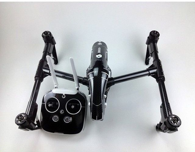Envío libre dji inspire 1 quadcopter/drone transmisor batería calcomanía etiqueta de fibra de carbono