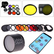 Камера Аксессуары для GoPro HERO5 Hero 5 52 мм 8 в 1 объектив фильтр (CPL + UV + ND8 + ND2 + Звезда 8 + красный + желтый + FLD/фиолетовый)