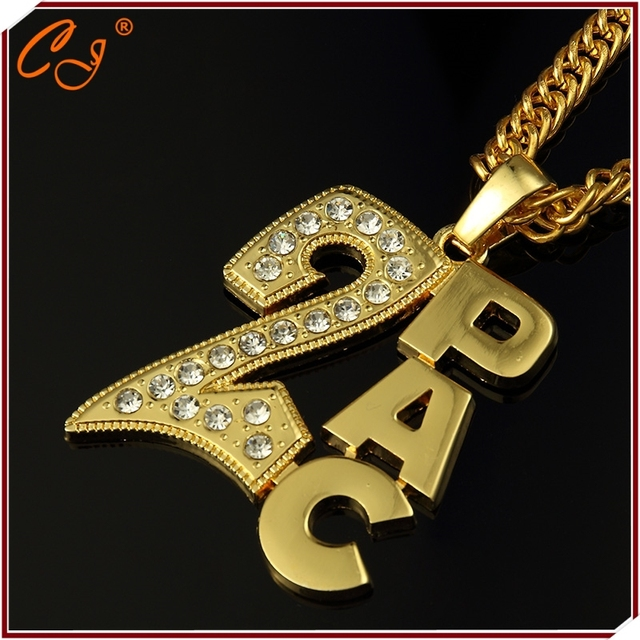 Alloy set auger 2 pac HIPHOP necklace pendant manufacturer in Europe and the tide brand jewelry wholesale spot