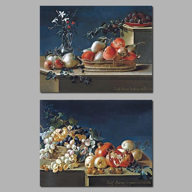 Dipinti di frutta per la cucina stampa su tela a olio for Quadri da cucina