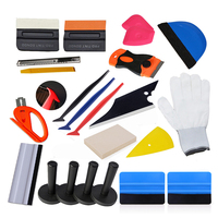EHDIS Window Tint Tool Set Vinyl Car Wrap Squeegee Scraper Carbon Foil Film Magnet Holder Cutter Knife Car Wrapping Accessories