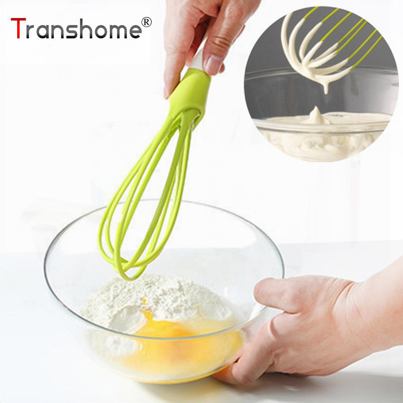 US $3.57 16% di SCONTO Transhome Frusta Da Cucina Design Non Bastone  Torsione Frusta Frullino per le uova Salse Mixer Balloon Frusta Frullatore  Da ...