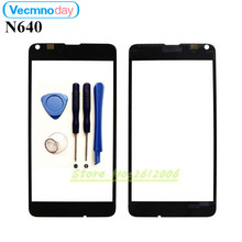Vecmnoday High Quality For Nokia Microsoft Lumia 640 Touch Screen Sensor Front Glass Lens panel + tools