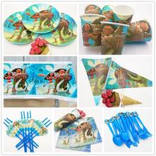 82pcs/set Moana Movie Kids Birthday Party Decoration Set Supplies Baby Bags Event
