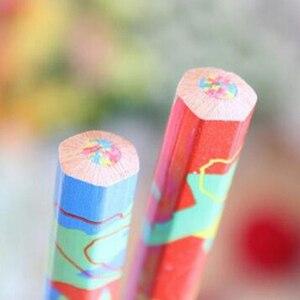 Image 4 - משלוח חינם 20 יח\חבילה מעורב צבעים קשת עיפרון אמנות ציור עפרונות כתיבה סקיצות ילדי גרפיטי ספר עט