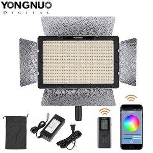 Image 1 - Yongnuo YN1200 + güç adaptörü 5500K beyaz 9300LM CRI95 1200 SMD Led Video dolgu işığı stüdyo aydınlatma uzaktan kumanda ile denetleyici