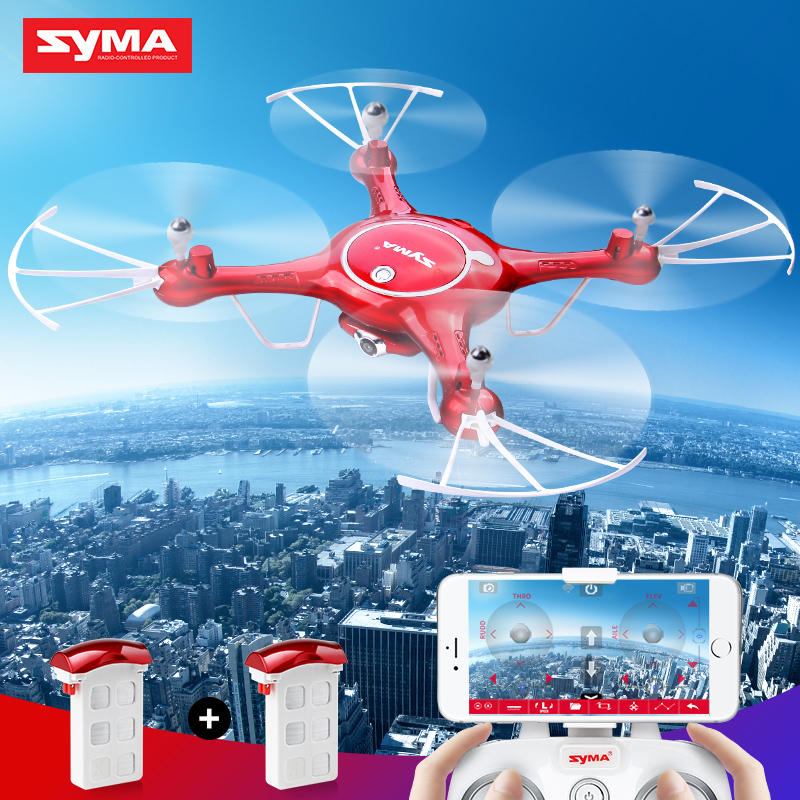 2 батареи SYMA оригинальный беспилотник игрушка X5UW (X5HC обновленный) дрон с HD Камера вертолет высота высокое дроны машины