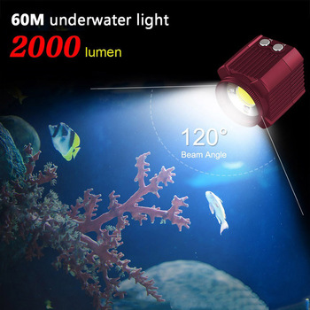 Mini Photography Lighting Underwater LED Light IP68 Waterproof Video Dive Flashlight Super Bright for GoPro/Camera/Smart Phone