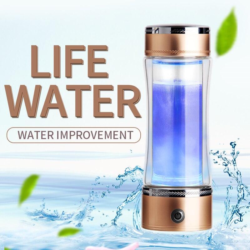 SPE PEM Hydrogen rich Water Cup Hydrogen and Oxygen Separation Ionic Membrane Smart Bottle Antioxidant Water