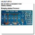 Frete grátis 1 pcs 3000-6000AV W DC 24 V/36 V/48 V/60 V para AC220V/110 V senoidal pura inversor circuito PCB prato Vazio placa