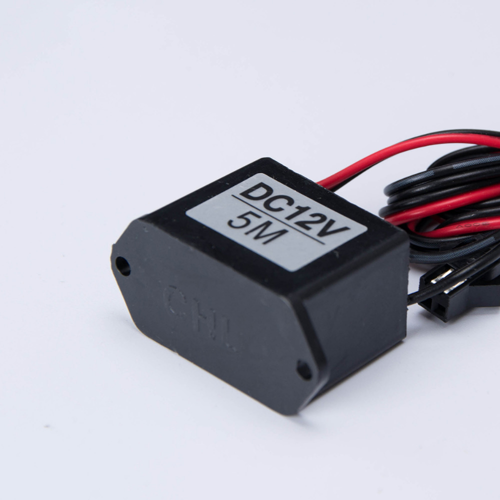 DC 12V EL Wire Inverter Red Black Cable Neon Glow Strip Light Driver ...