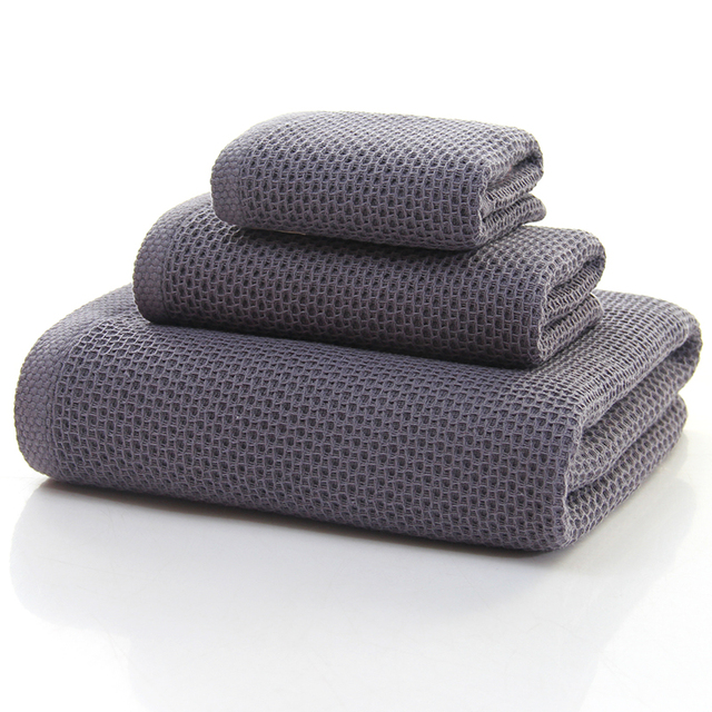 Absorbent Cotton Towels Set