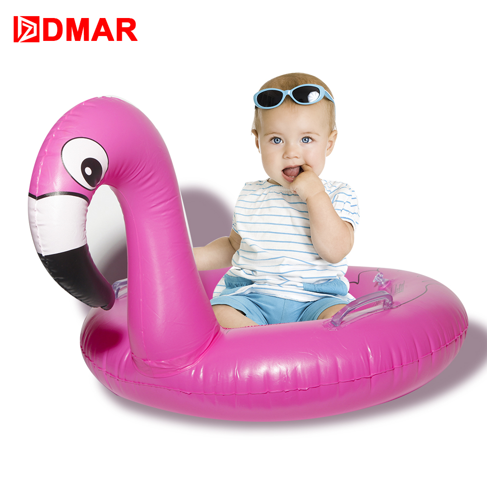 DMAR Inflatable Flamingo Pool Float Toys for Baby Kids Swimming Ring Party Beach Sea Inflatable Mattress Water Toys