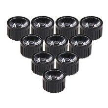 Collimateur de réflecteur de lentille de 10 pièces 5/15/30/45/60/90/120 degrés avec support pour LED 1-5w