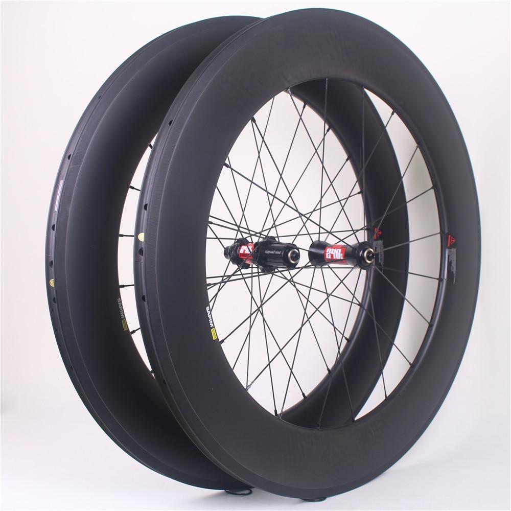 Winowsports SLR 88mm Carbon Road Bike Wheel Straight Pull 700c carbon super light 25mm Tubular bicycle wheels basalt braking