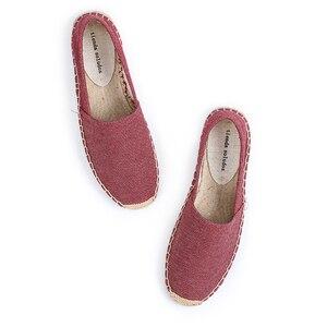 Image 2 - Schuhe Frau 2019 Direct Selling Top Fashion Leinwand Ballett Wohnungen Feste Zapatillas Mujer Espadrilles Sapatos Tienda Soludos