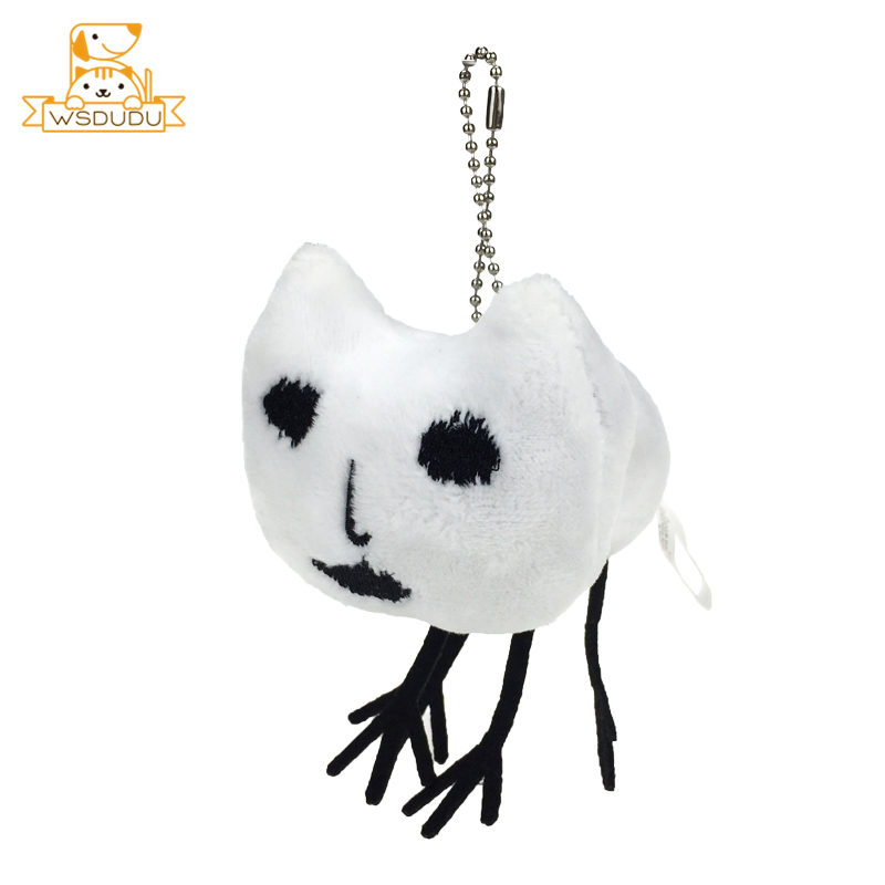 Cute White Cat Keyring Cartoon Plush Stuffed Dolls For Child Adult Toys Birthday Gifts Ugly Kitten Keychain Kawaii Pendant Decor