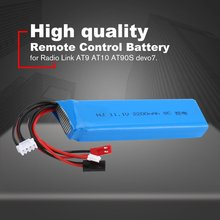 цена на 11.1V 2200mAh Rechargeable Remote Control Lithium Battery Transmitter Battery for Radio Link AT9 AT10 AT90S devo7