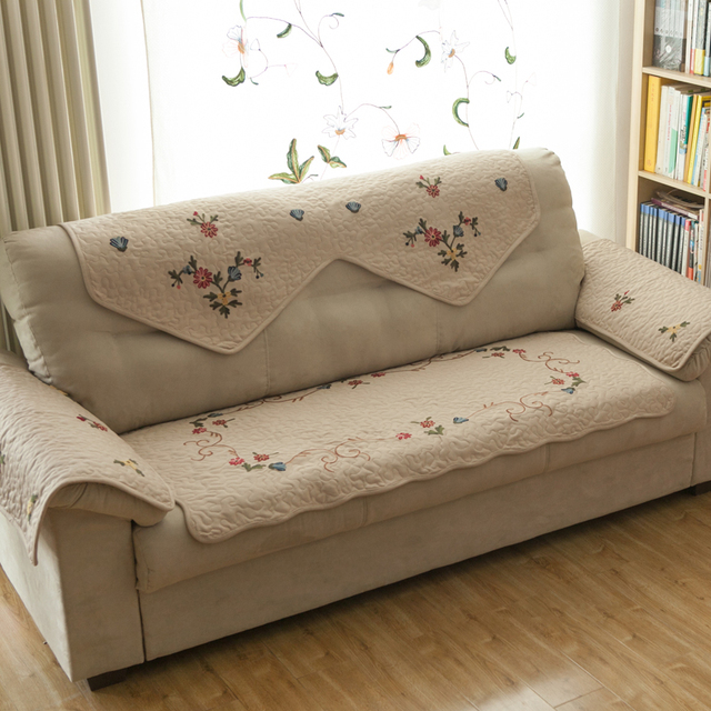 Tarohome Sofa Cover For Living Room Artificial Embroidery Non Slip Cushion New Design Flower
