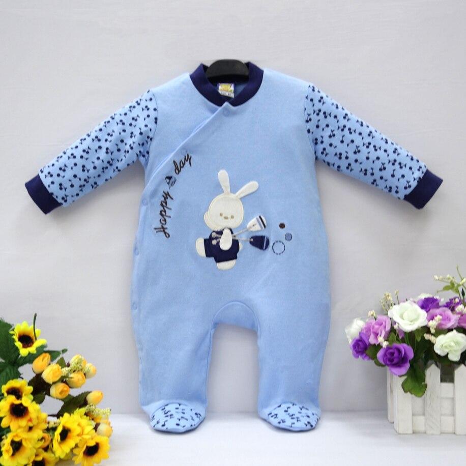 2019 Little Q Puur Katoen Pasgeboren Lente Herfst Kleding Een Stuk Footies Baby Boy Baby Ondergoed Vier Kleur Kleding