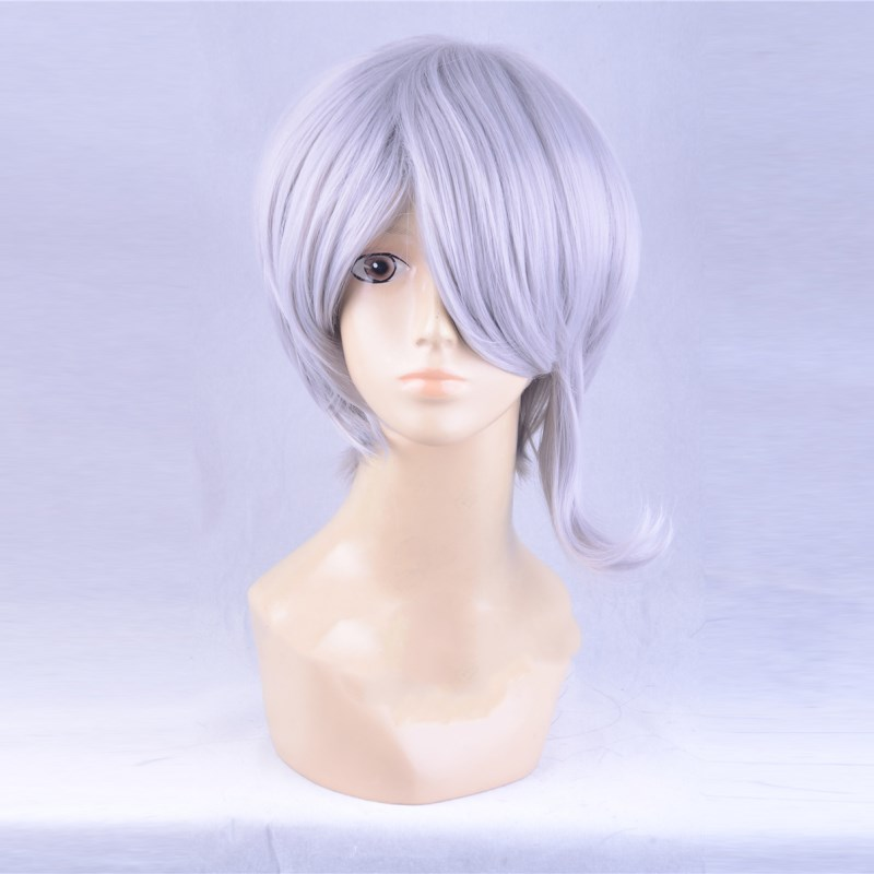 <font><b>Danganronpa</b></font> Dangan Ronpa V3 Tojo Kirumi Gray Mixed Color Cosplay Role Play Hair Halloween image