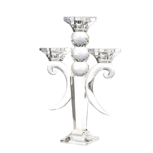 Hd Classic Wedding Centerpieces Clear Crystal Candlestick Candle