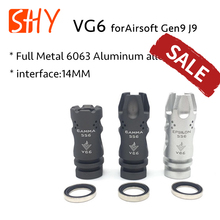 Full Metal 14MM CCW Thread Negative GAMMA EPSILON 556 VG6 Flash Hider for Airsoft Gen9 J9 Water Gel Ball Blaster AEG